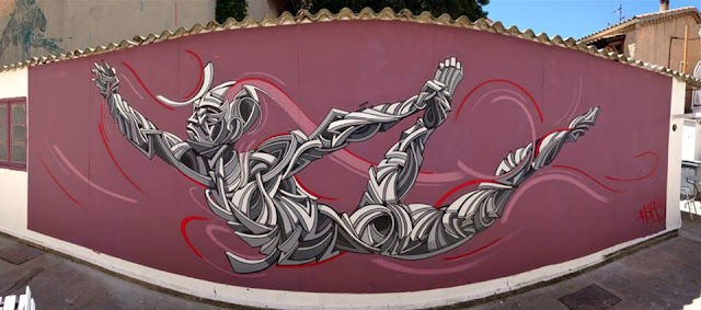 "The ""Le Mur Toulon"" Street Art project recently welcomed Shaka to paint a new piece on the streets of Toulon in France."