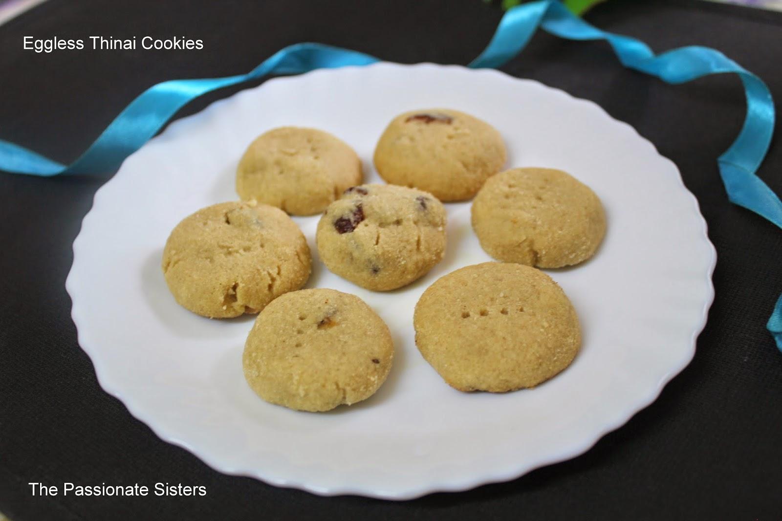 Thinai cookies