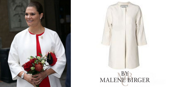 Princess Victoria's BY MALENE BIRGER Coat And SERAPHINE Bespoke Maternity Dress