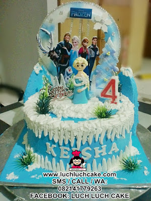 Kue Tart Frozen Elsa Daerah Surabaya - Sidoarjo