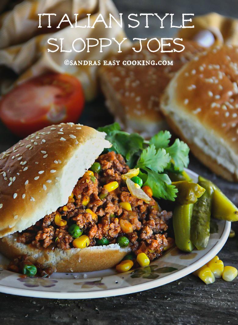 Italian Style Sloppy Joes {recipe} - SANDRA'S EASY COOKING