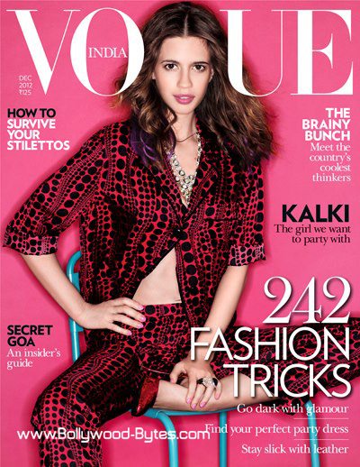 Kalki on the cover of VOGUE India December 2012