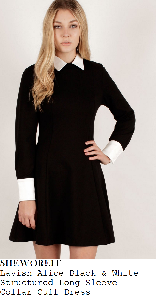 billie-faiers-black-long-sleeve-collared-dress-white-cuffs-and-collar-towie