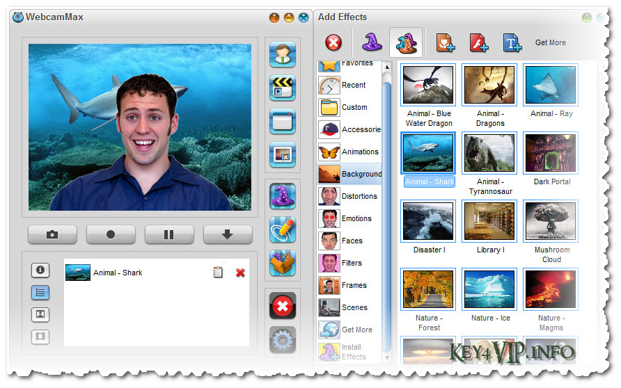 WebcamMax 7.8.4.8 Multilingual Full,Phần mềm tạo hiệu ứng đọc và lạ cho Webcam