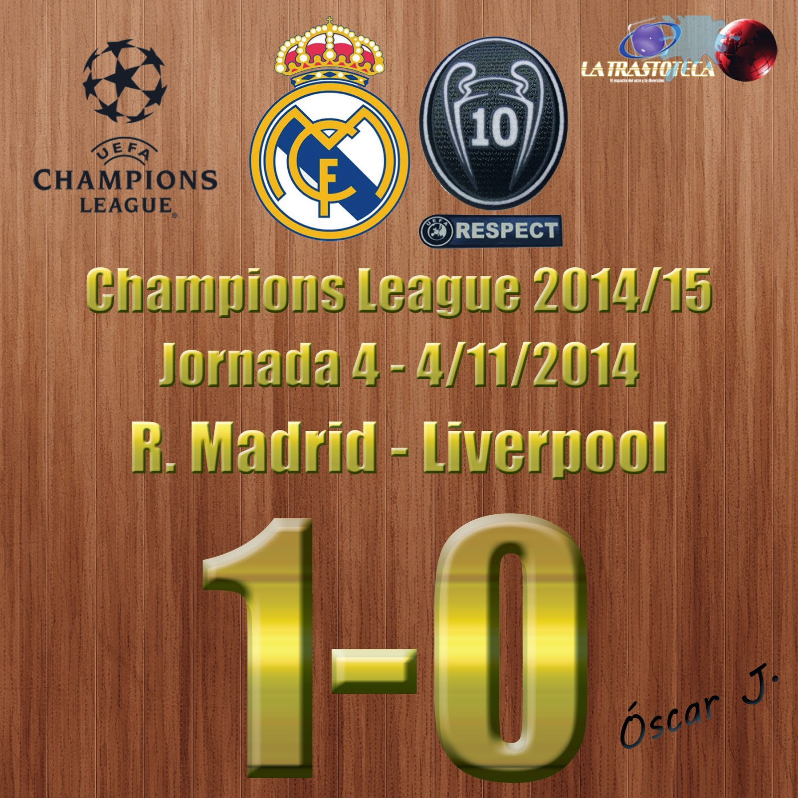 Real Madrid 1-0 Liverpool