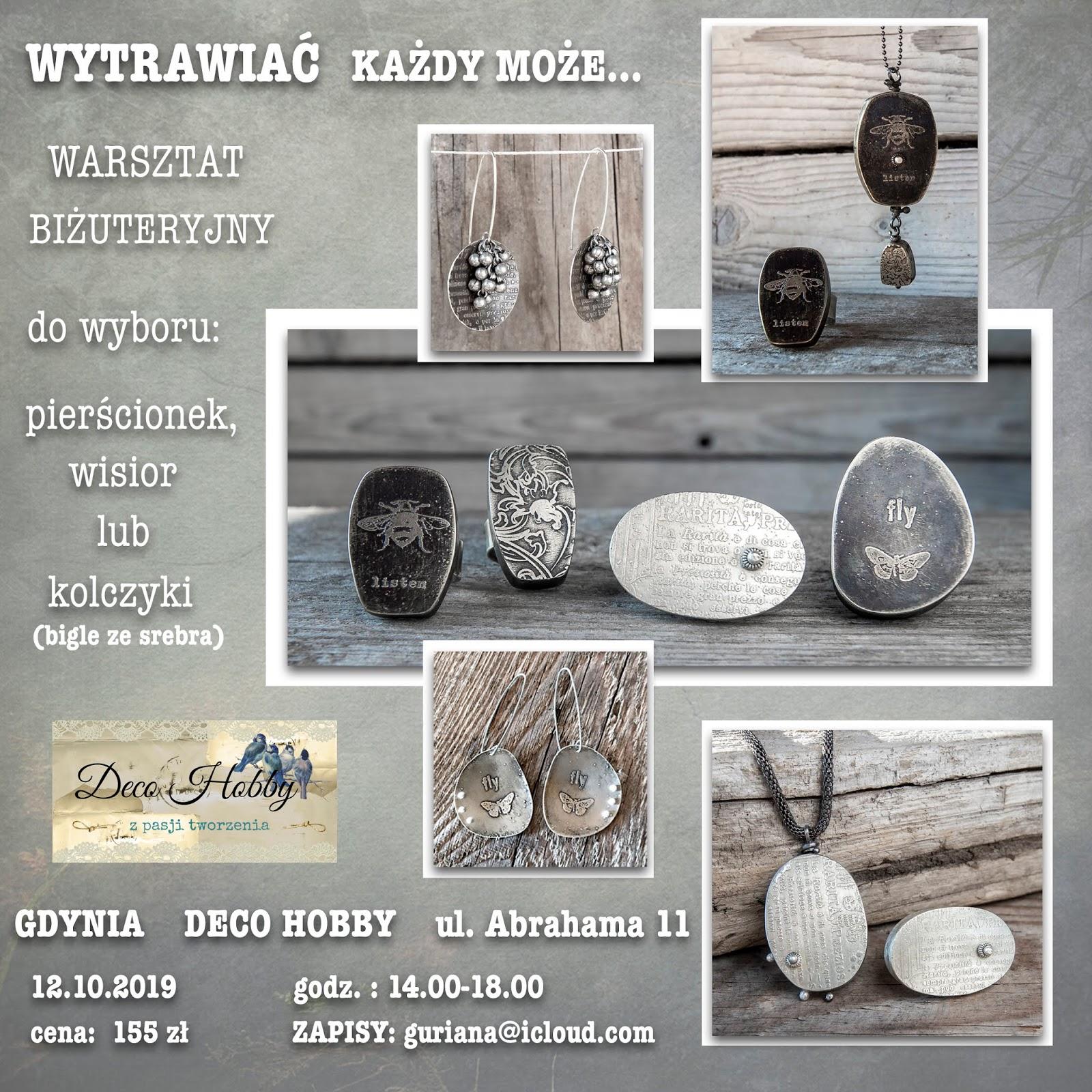 GDYNIA-warsztat biżuteryjny-Wytrawiać każdy może