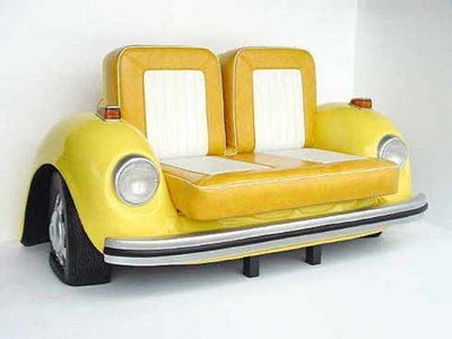 Unique furniture with old cars concept furniture design for Interesting couches