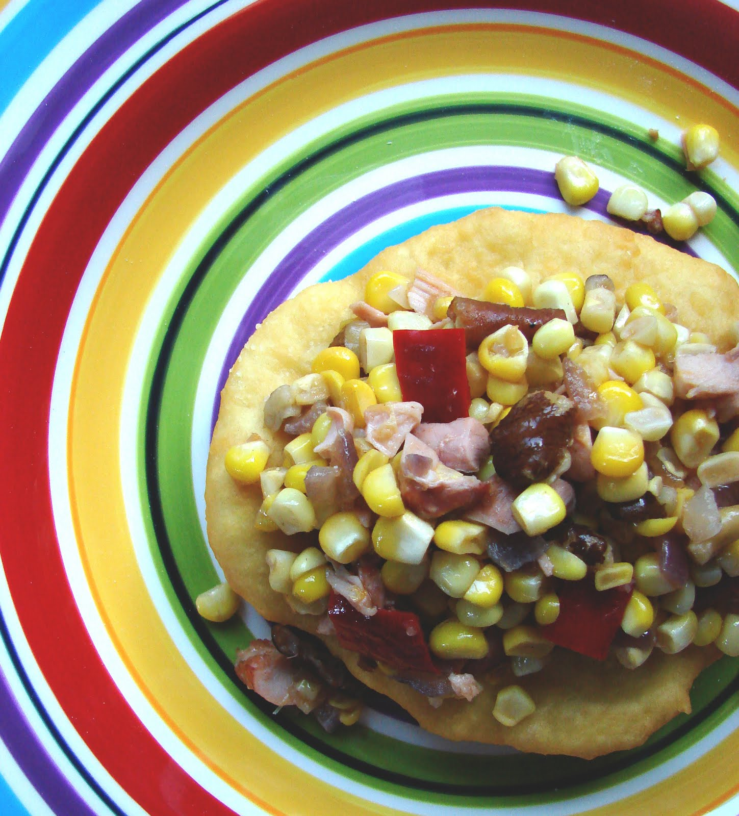 iron stef: fry bread with maple corn hash