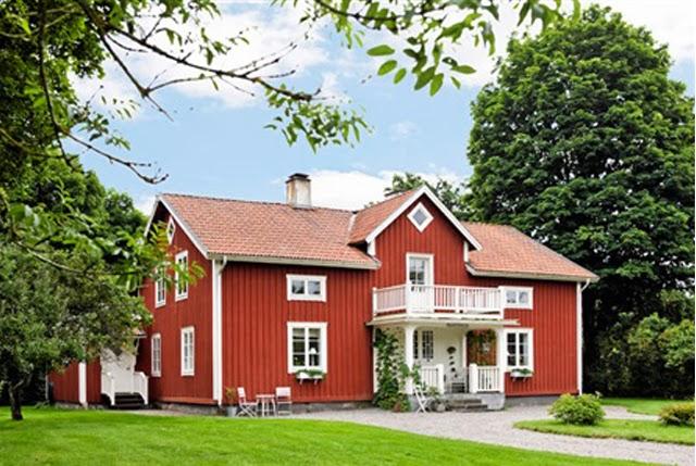 Ferme blanche en Suede