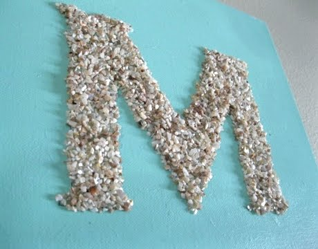 crushed shell letters