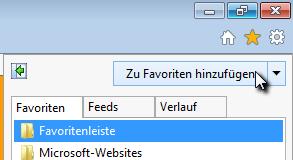favoriten hinzufügen windows 10