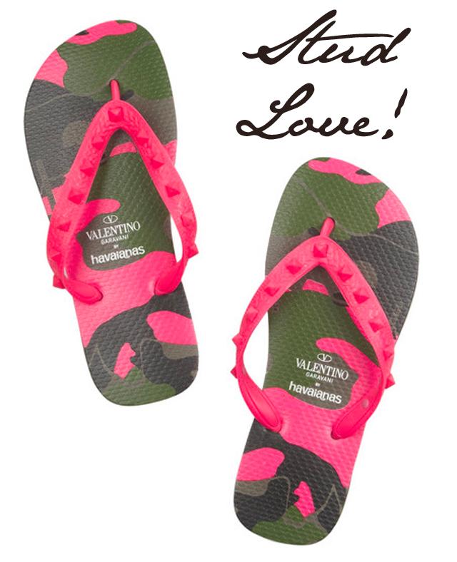 Valentino Studded Havaianas Flip Flops