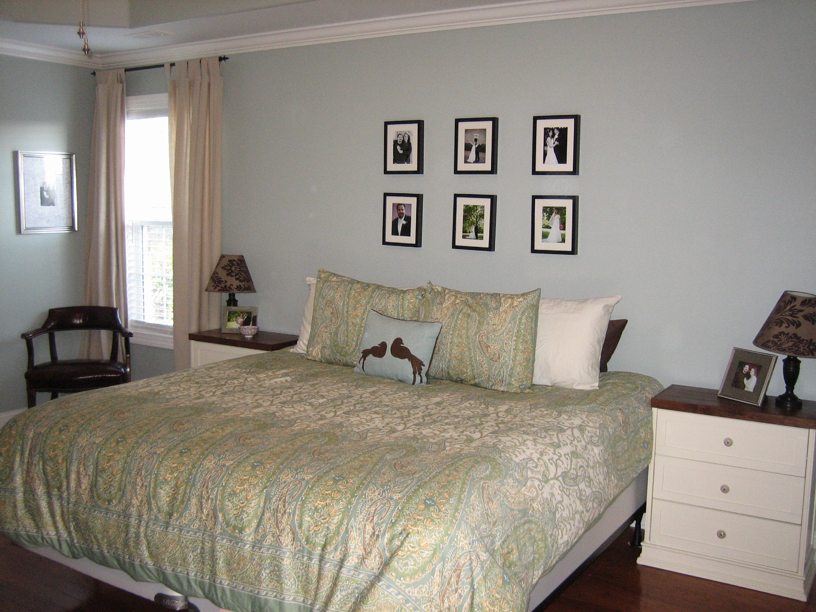 master bedroom update pb colette bedding and a new bed the turquoise home - Master Bedroom Bedding