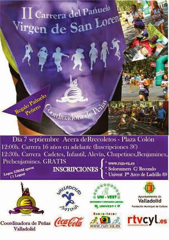 Carrera del pañuelo Ferias y Fiestas Valladolid 2014