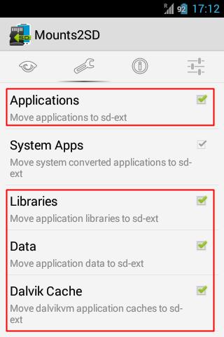 Aplikasi Mounts2SD Untuk Mengosongkan Memori
