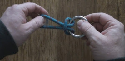 Cow Hitch Knot tied onto a ring