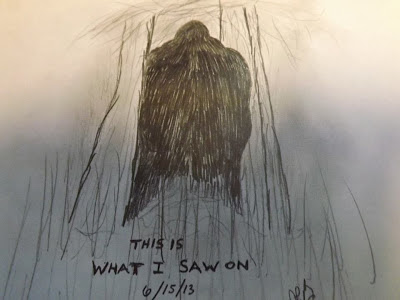 Dan Baker Draws Bigfoot