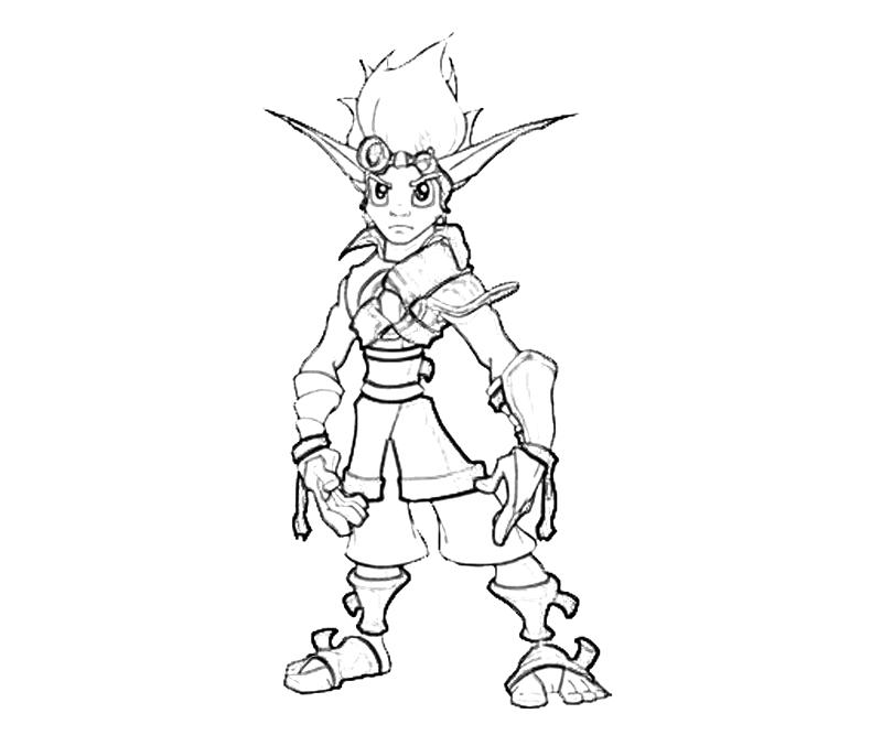 Jak Strong How Coloring Jak And Daxter Coloring Pages