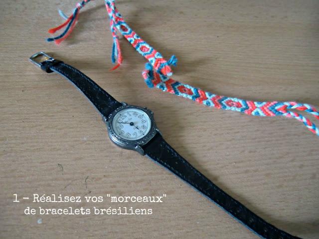 Garde robes diy la montre bracelet br silien - Longueur fil bracelet bresilien ...