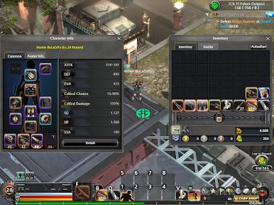 Metal Reaper Online - Character Info
