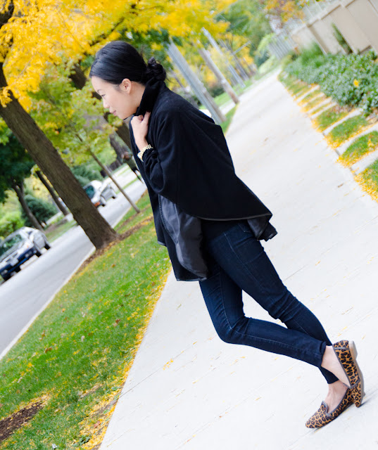 Fall Fashion, cape, Barney's Co-Op, Smoking slippers