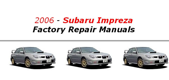 Subaru Impreza Wrx Full Service Repair Manuals