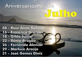 ANIVERSARIANTES - JULHO