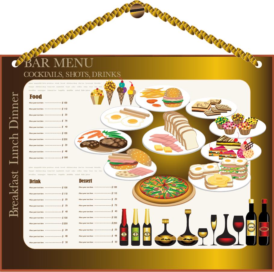 メニュー デザイン テンプレート restaurant menu design イラスト素材