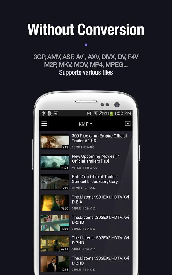 4 KMPlayer v.1.3.0 [Sin Anuncios] [Apk] [Android] [ZS]