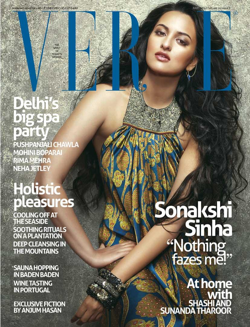 sonakshi sinha on the cover of verve magazine india july 2012.