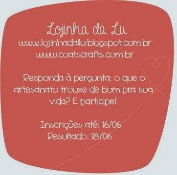 Sorteio do blog - Lojinha da Lu