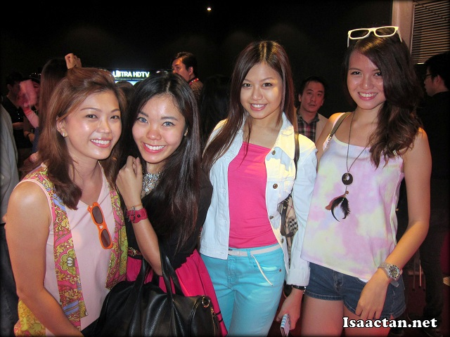 Bloggers in their bright fiesta outfits at the LG Fiesta Roadshow
