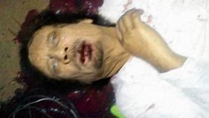 Muammar Khadafi Tewas, Foto dan Video Tertembak, gambar khadafi