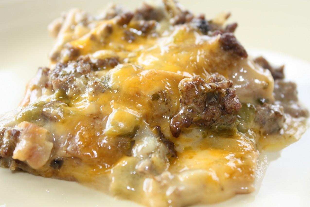 pass the peas, please: green chile casserole