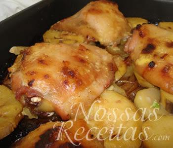 receita de pedaços de frango preparado com toque especial