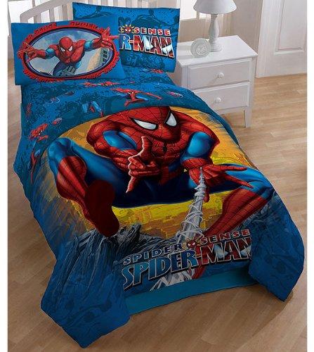 total fab dc amp marvel comic superhero rugs amp bedroom ideas spiderman blue themed kids rug