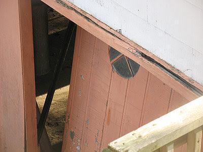 crumbling garage