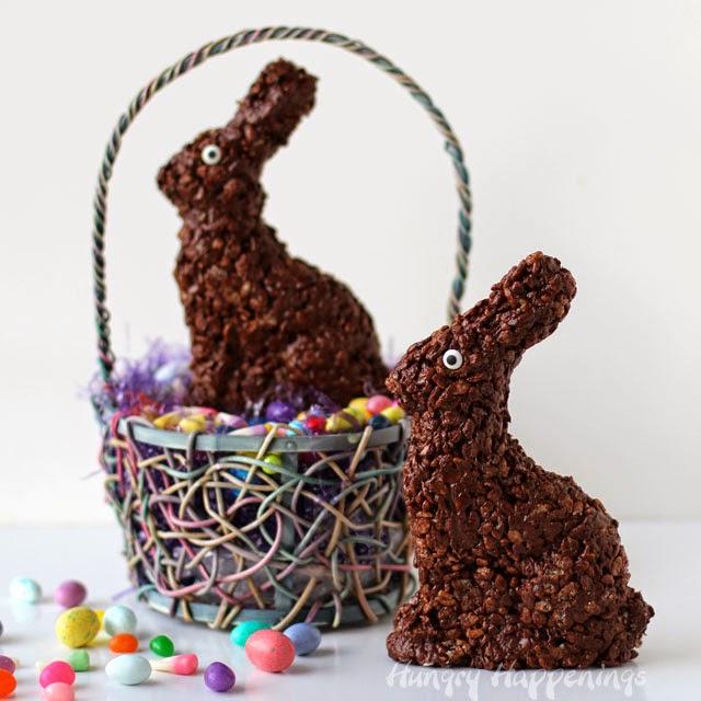 Cocoa Krispies Easter Bunny Treats | HungryHappenings.com