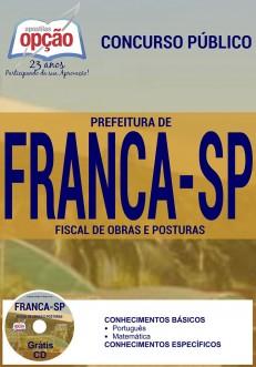 Apostila Concurso Prefeitura de Franca - SP - Fiscal de Obras e Posturas - 2016
