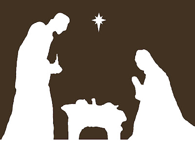 Resource image within free printable silhouette of nativity scene