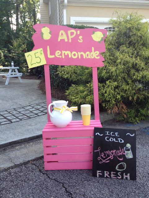 A pink lemonade party calliespondence for Lemon shaped lemonade stand