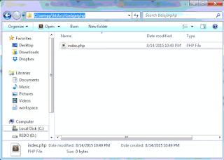 Index php folder htdoc