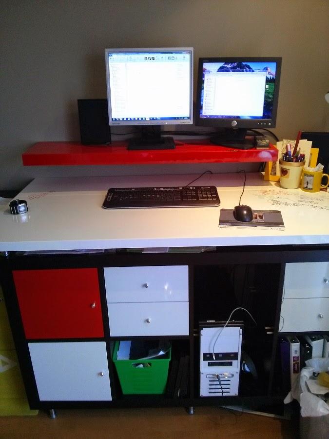 modern dryerase standing desk