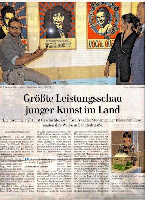 Artikel Ostseezeitung 08.Juli 2013