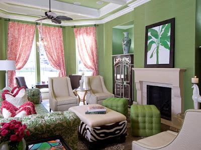 salas con paredes verdes