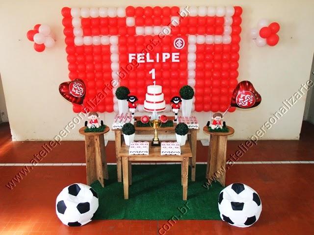 decoração de festa infantil Sport Club Internacional