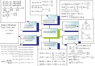 İzmir özel ders trigonometri kavram haritası