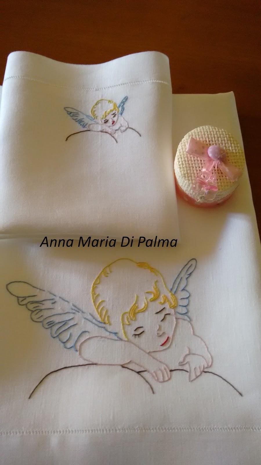 Broderiemonamour di anna maria di palma lenzuolino angelo - Colorazione pagine palma domenica ...