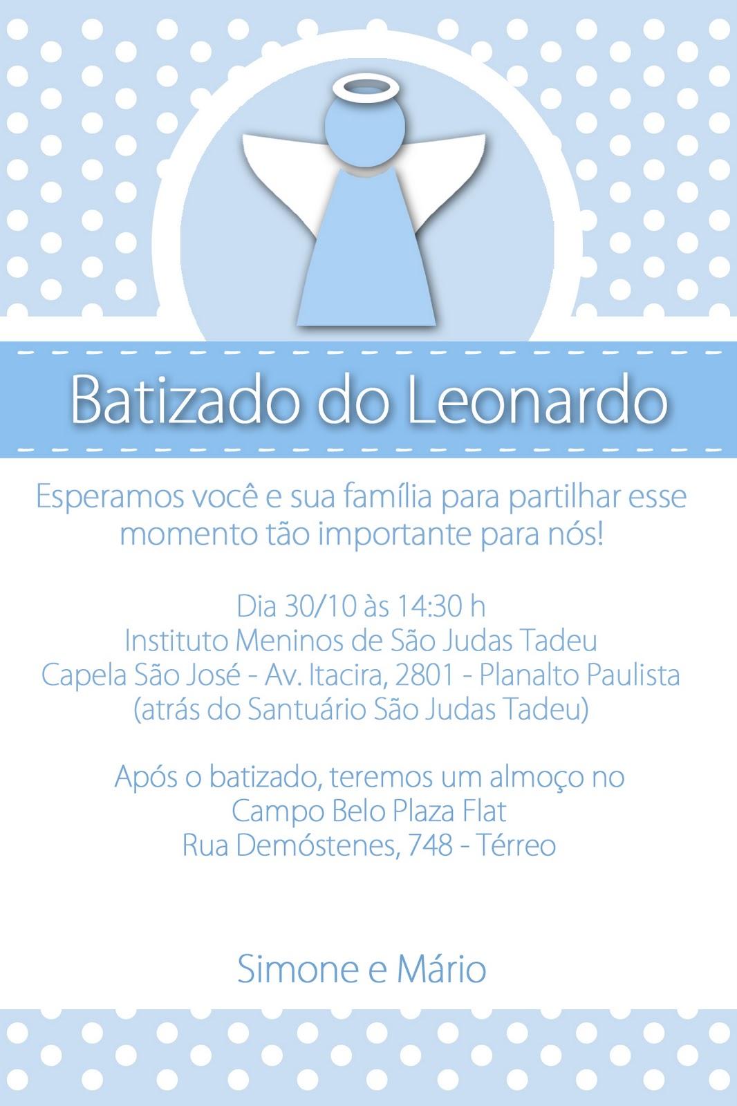 Convite   O Anjinho Estilizado  Bolinhas Brancas No Fundo Azul E A