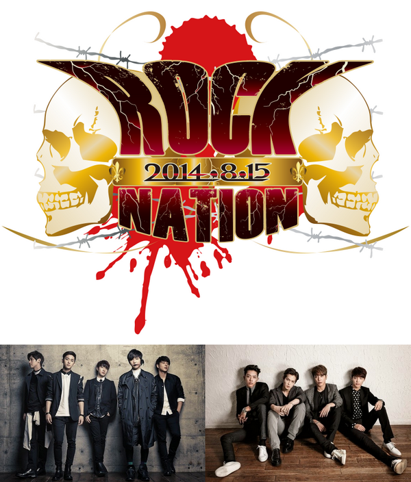 [LIVE REPORT] FTISLAND et CNBLUE au ROCK NATION 2014